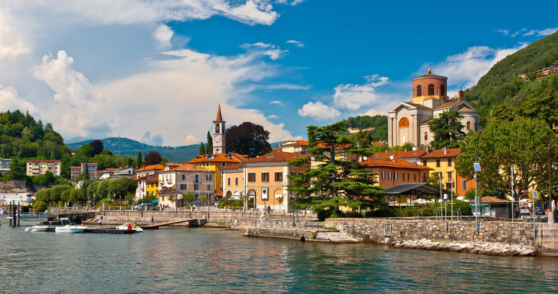 Luino affacciato sul lago Maggiore