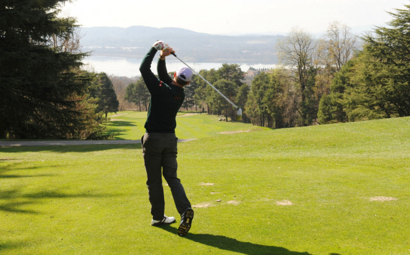Golf: relaxing on the green