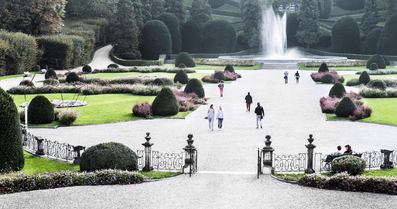 Giardini di Palazzo Estense a Varese.