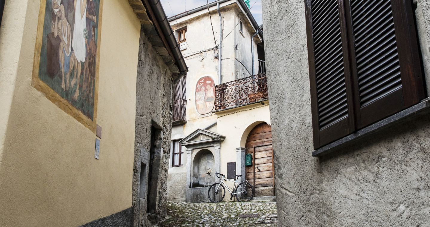 Painted village Arcumeggia, the country of painters, Varese.